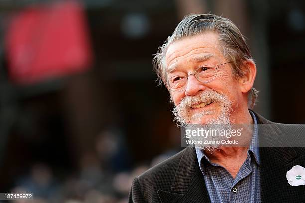 John Hurt appears On The Red Carpet during The 8th Rome Film Festival at Auditorium Parco Della Musica on November 9 2013 in Rome Italy