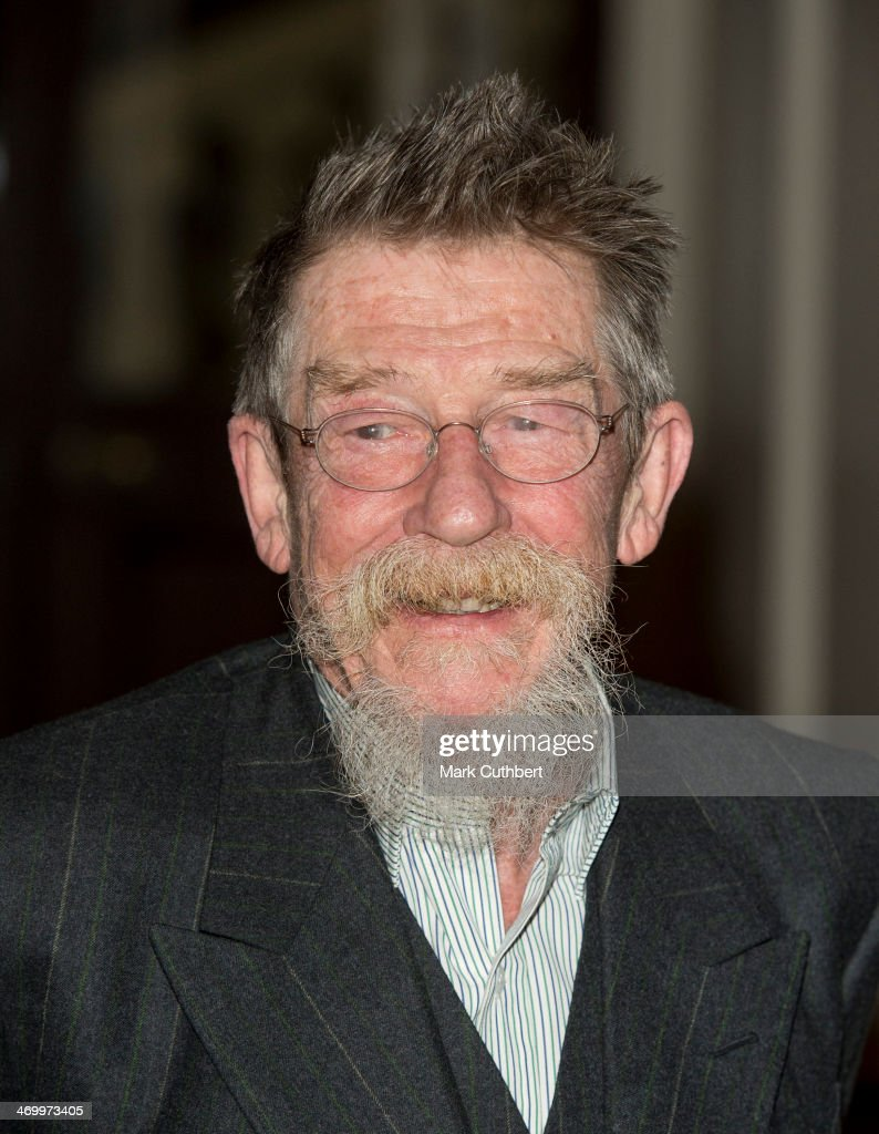 <a gi-track='captionPersonalityLinkClicked' href=/galleries/search?phrase=John+Hurt&family=editorial&specificpeople=210790 ng-click='$event.stopPropagation()'>John Hurt</a> attends a Dramatic Arts Reception at Buckingham Palace on February 17, 2014 in London, England.