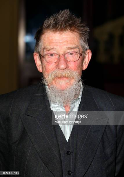 John Hurt attends a Dramatic Arts reception hosted by Queen Elizabeth II at Buckingham Palace on February 17 2014 in London England