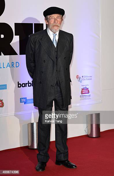 John Hurt attends the '20000 Days on Earth' screening at Barbican Centre on September 17 2014 in London England