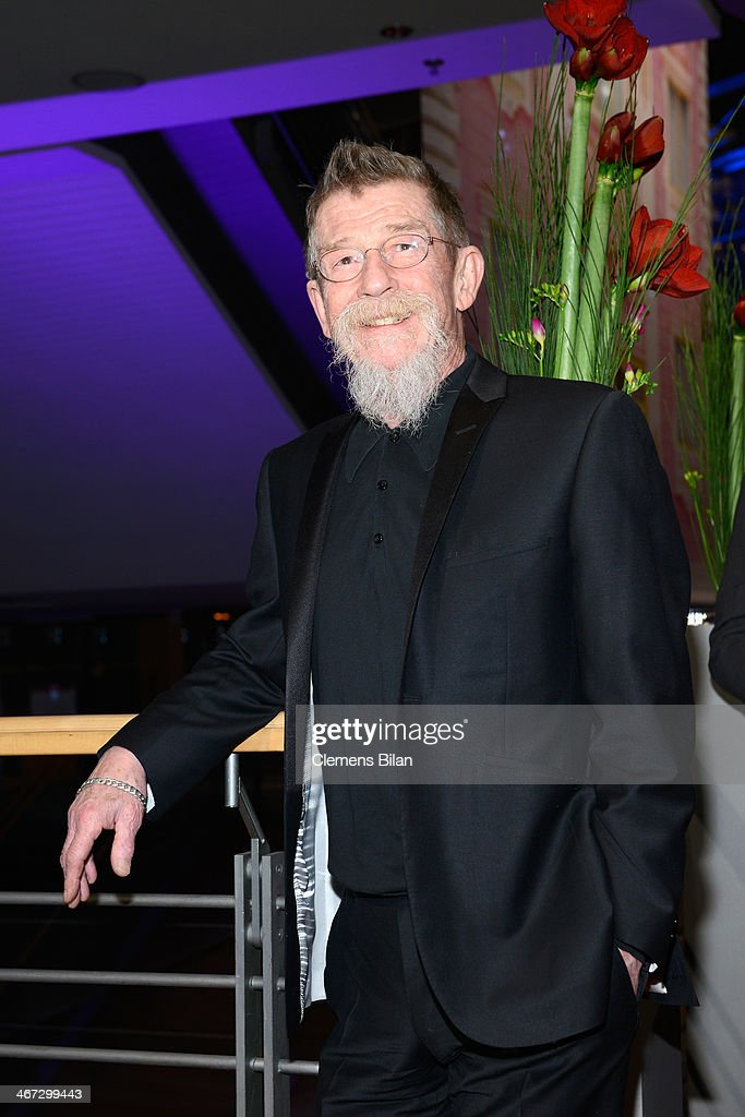 <a gi-track='captionPersonalityLinkClicked' href=/galleries/search?phrase=John+Hurt&family=editorial&specificpeople=210790 ng-click='$event.stopPropagation()'>John Hurt</a> attends 'The Grand Budapest Hotel' Premiere and opening ceremony during the 64th Berlinale International Film Festival at Berlinale Palast on February 6, 2014 in Berlin, Germany.