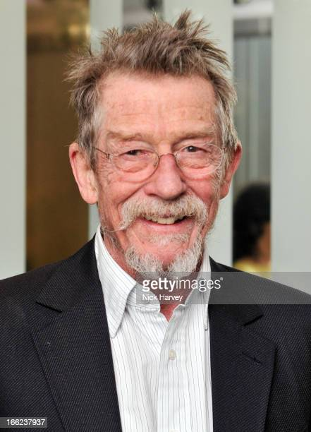 John Hurt is awarded the Liberatum cultural honour at W hotel Leicester Sq on April 10 2013 in London England