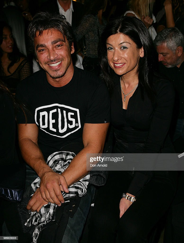 John Ibrahim and guest attend the front row of the Ksubi collection show on the fourth day of Rosemount Australian Fashion Week Spring/Summer 2010/11...
