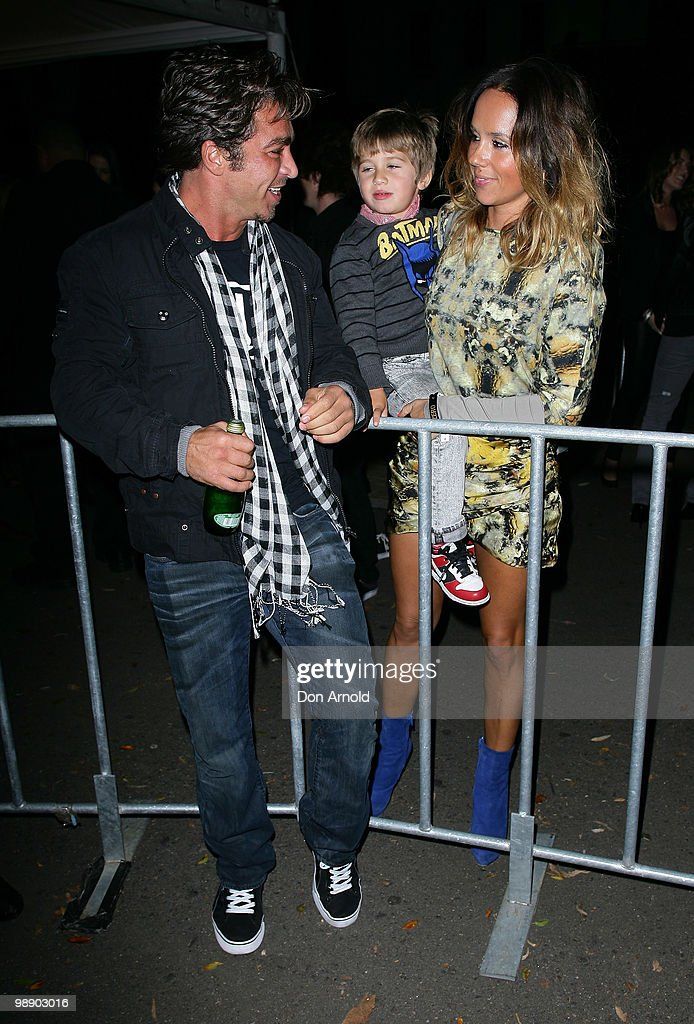 John Ibrahim Justice Single and Pip Edwards attend the front row of the Ksubi collection show on the fourth day of Rosemount Australian Fashion Week...