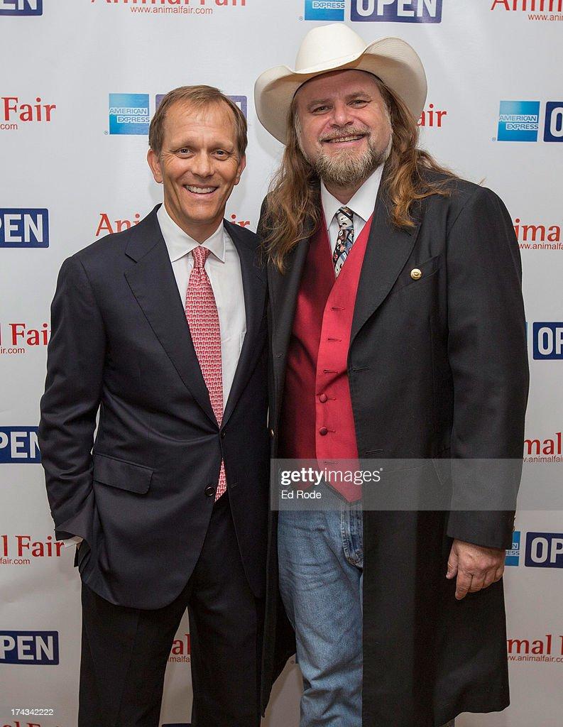 John Ingram and Guy Gilchrist attend AnimalFair.com Bark Breakfast Benefiting K9s For Warriors at the Loews Vanderbilt Hotel on July 24, 2013 in Nashville, Tennessee.