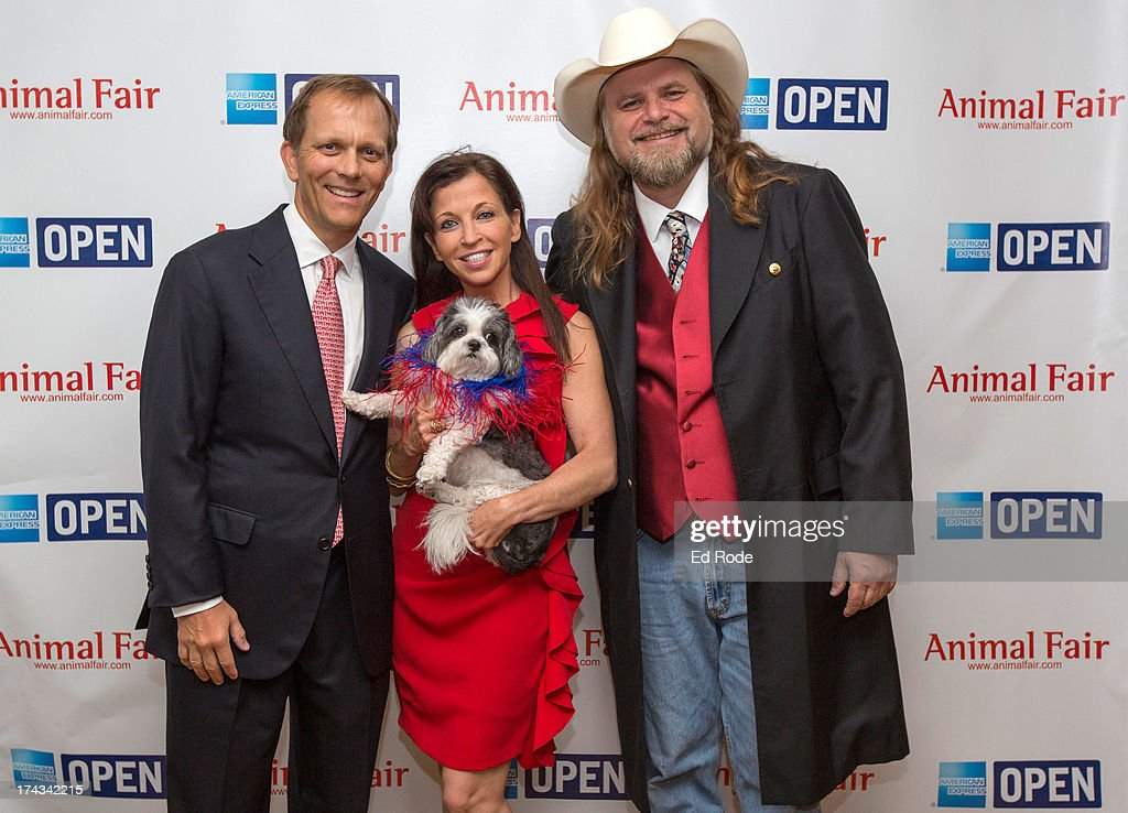 John Ingram, <a gi-track='captionPersonalityLinkClicked' href=/galleries/search?phrase=Wendy+Diamond&family=editorial&specificpeople=663985 ng-click='$event.stopPropagation()'>Wendy Diamond</a> and Guy Gilchrist attends AnimalFair.com Bark Breakfast Benefiting K9s For Warriors at the Loews Vanderbilt Hotel on July 24, 2013 in Nashville, Tennessee.