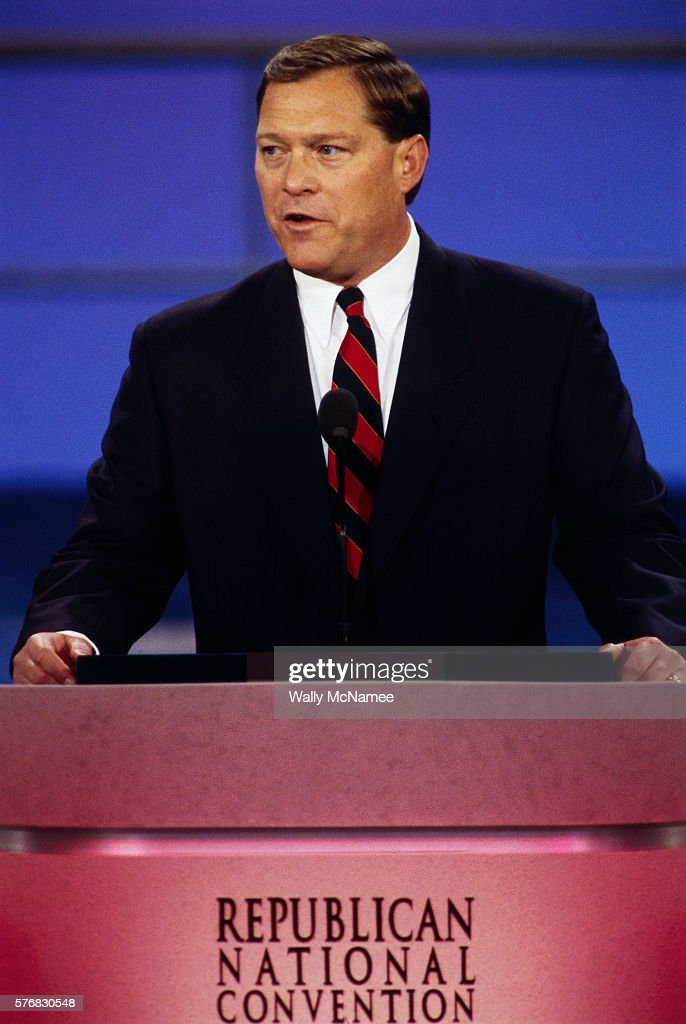John 'Jack' Gardner Ford son of former President Gerald Ford speaks at the 1996 Republican National Convention in San Diego
