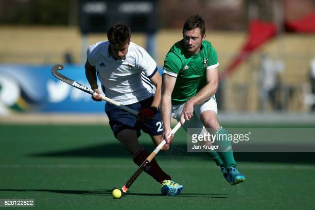 John Jackson of Ireland in action during the 5th8th place play off match between Ireland and France on Day 7 of the FIH Hockey World League Men's...