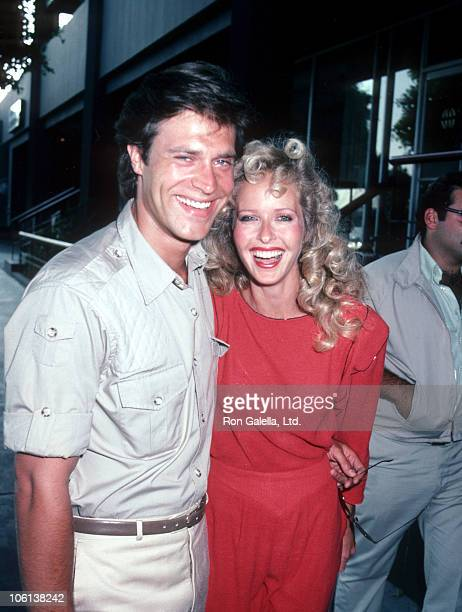John James and Marsha Wolf during John James and Marsha Wolf Sighting in Beverly Hills July 1 1983 at Beverly Hills California in Beverly Hills...