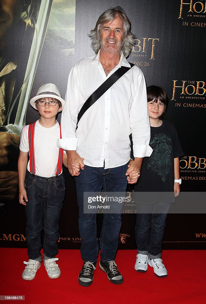 John Jarratt (C) attends the Sydney premiere of 'The Hobbit: An Unexpected Journey' at George Street V-Max Cinemas on December 18, 2012 in Sydney, Australia.