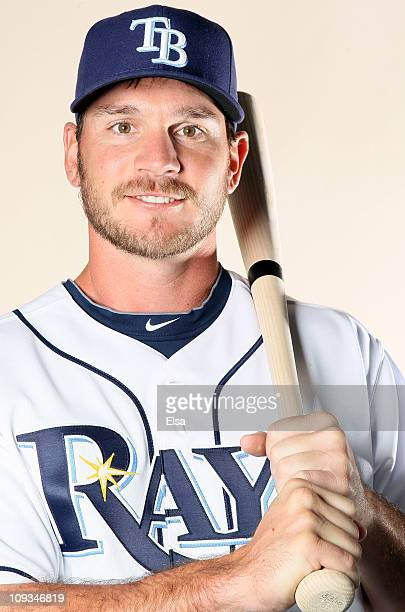 John Jaso of the Tampa Bay Rays poses for a portrait during the Tampa Bay Rays Photo Day on February 22 2011 at the Charlotte Sports Complex in Port...
