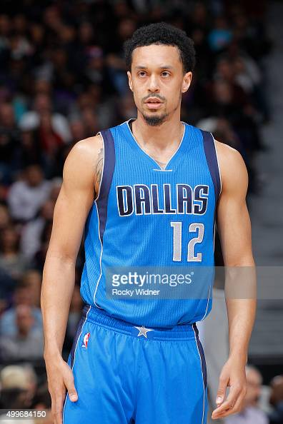 John Jenkins of the Dallas Mavericks looks on during the game against the Sacramento Kings on November 30 2015 at Sleep Train Arena in Sacramento...