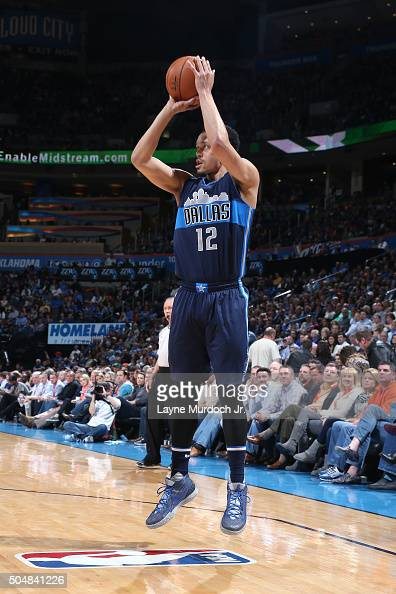 John Jenkins of the Dallas Mavericks shoots the ball during the game against the Oklahoma City Thunder on January 13 2016 at the Chesapeake Energy...