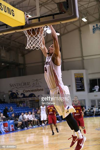 John Jenkins of the Idaho Stampede dunks the ball against the Fort Wayne Mad Ants during the NBA DLeague Showcase game on January 19 2015 at Kaiser...