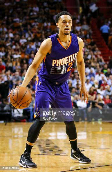 John Jenkins of the Phoenix Suns in action during the game against the Miami Heat at the American Airlines Arena on March 3 2016 in Miami Florida...