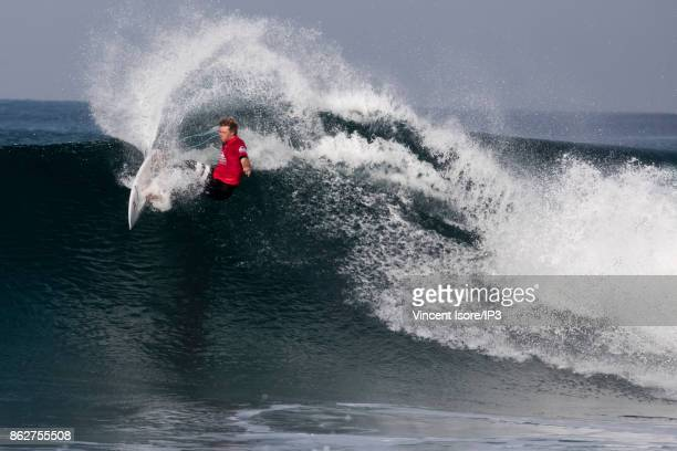 John John Florence from the US performs during the Quicksilver Pro France surf competition on October 12 2017 in Hossegor France he French stage of...