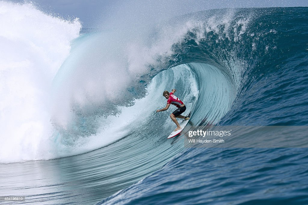 <a gi-track='captionPersonalityLinkClicked' href=/galleries/search?phrase=John+John+Florence&family=editorial&specificpeople=6529154 ng-click='$event.stopPropagation()'>John John Florence</a> of Hawaii during the Billabong Pro Tahiti on August 25, 2014 in Teahupo'o, Tahiti, French Polynesia.