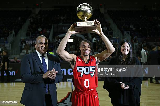 John Jordan of the Raptors 905 wins the NBA DLeague Slam Dunk presented by Verizon during the NBA DLeague All Star Game 2016 presented by Kumho Tire...