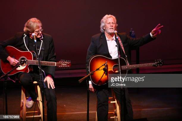 John Jorgerson and Chris Hillman perform on stage during Sonic Overdrive Songs and Stories through the streets of Los Angeles at J Paul Getty Museum...