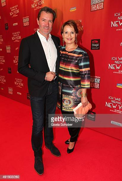 John Juergens son of Udo Juergens and his sister Jenny Juergens daughter of Udo Juergens during the Munich premiere of the musical 'Ich war noch...