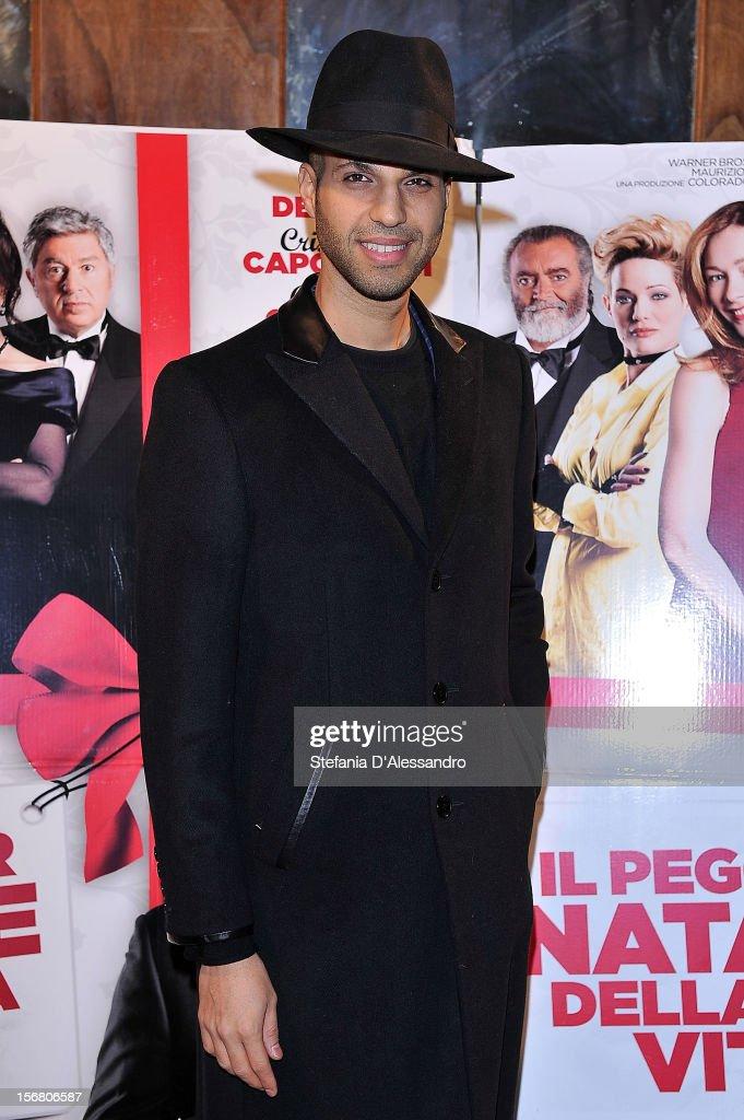 John Kashanian attends 'Il Peggior Natale Della Mia Vita' Premiere on November 21, 2012 in Milan, Italy.