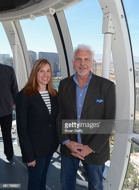John Kasperowicz AIA rides in a cabin on the Las Vegas High Roller observation wheel as it welcomes the first riders on the Las Vegas High Roller at...