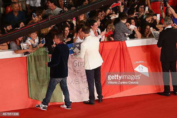 John Keeble and Gary Kemp attend the 'Soul Boys of the Western World' Red carpet during the 9th Rome Film Festival on October 20 2014 in Rome Italy