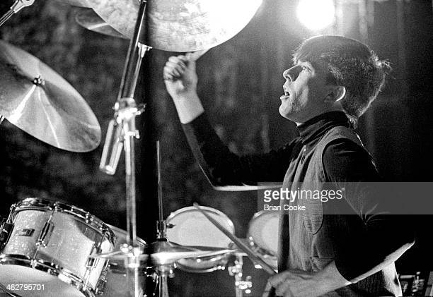 John Keeble of Spandau Ballet performing at The London Dungeon Tooley Street London during the filming of a pop video for Chrysalis Records for their...