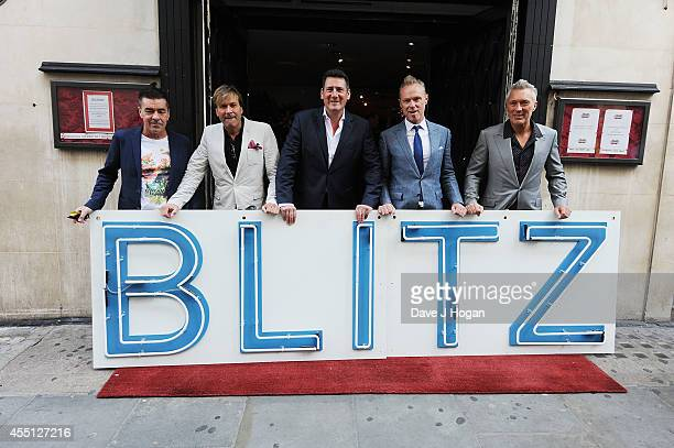 John Keeble Steve Norman Tony Hadley Gary Kemp and Martin Kemp of Spandau Ballet attend a photocall as Spandau Ballet are awarded a PRS for Music...