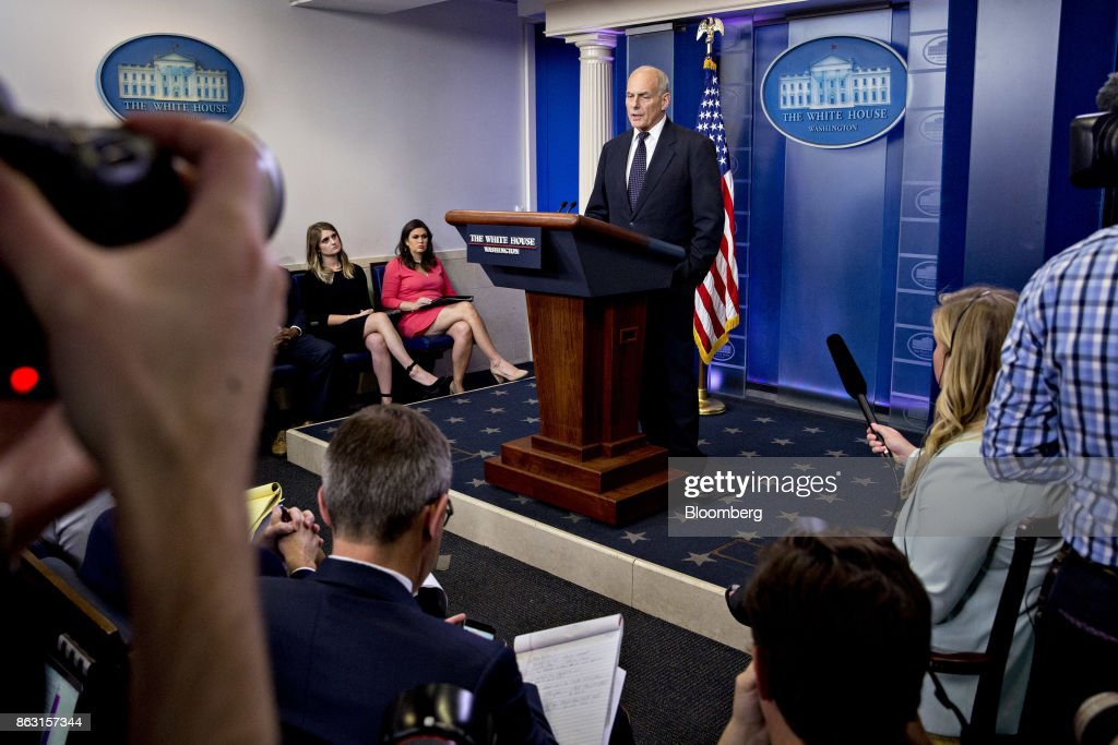 White House Chief Of Staff John Kelly Speaks During White House Briefing