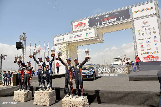 John Kennard of New Zealand and Hayden Paddon of New Zealand Julien Ingrassia of France and Sebastien Ogier of France Thierry Neuville of Belgium and...