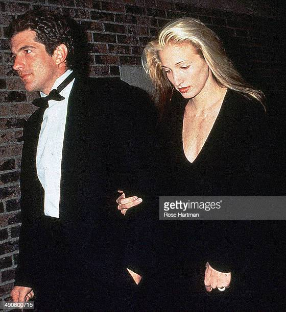 John Kennedy Jr and Carolyn Bessette Kennedy attend the First Jackie O Award Salute to Brendan Gill at the 26th Street Armory New York New York 1994