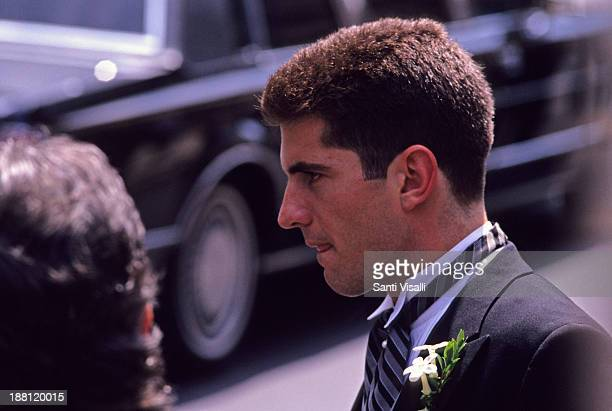 John Kennedy Jrat a wedding on June 10 1990 in New York New York