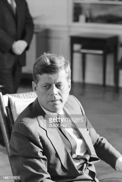 John Kennedy Proclaims The Blockade Of Cuba Le 23 octobre 1962 aux Etats Unis à la maison blanche le président John Fitzgerald KENNEDY annonce sa...