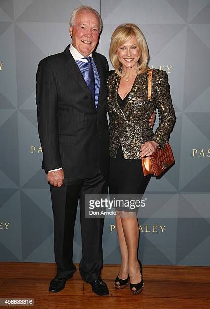 John Kennerley and KerriAnne Kennerley arrive for the 2014 Touchstone by Paspaley Est Restaurant on October 8 2014 in Sydney Australia