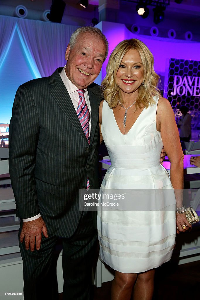 John Kennerley and Kerri-Anne Kennerley attend the David Jones Spring/Summer 2013 Collection Launch at David Jones Elizabeth Street on July 31, 2013 in Sydney, Australia.