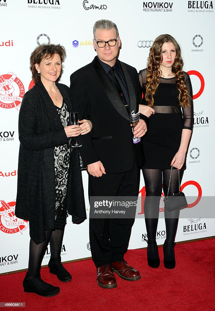 John Kermode (C) attends the London Critics' Circle Film Awards at The Mayfair Hotel on February 2, 2014 in London, England.
