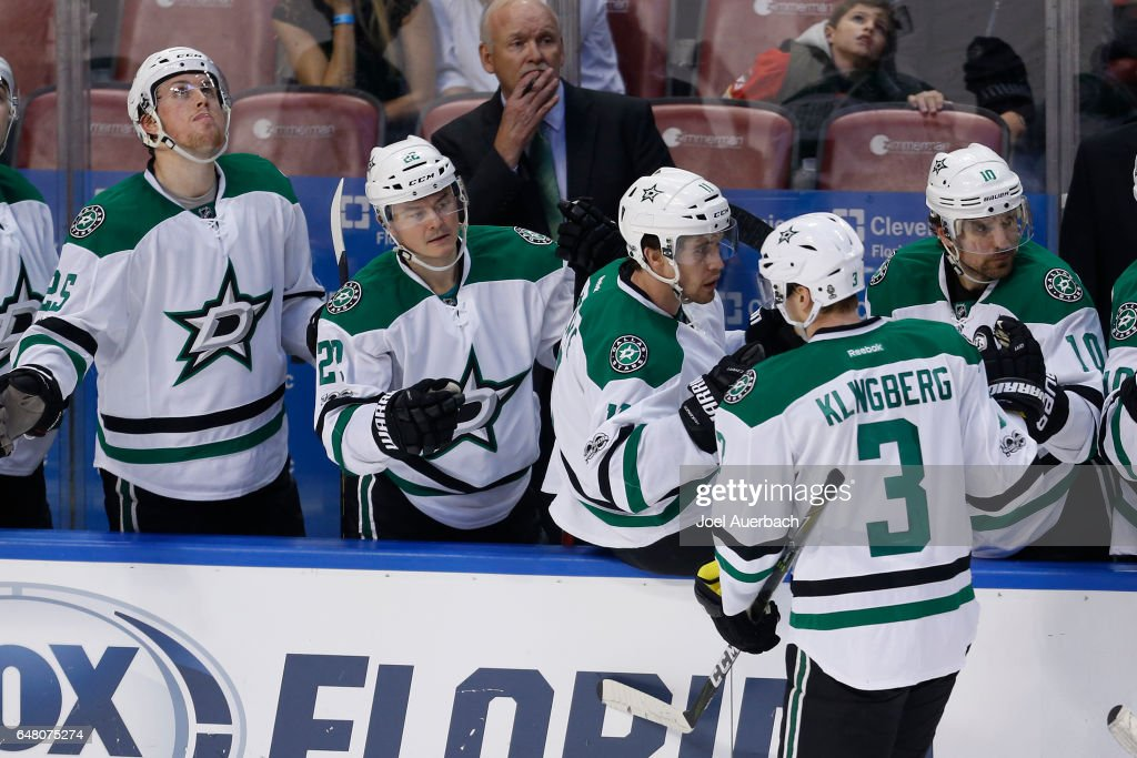 Klingberg celebrates his winner against the Panthers (GettyImages)