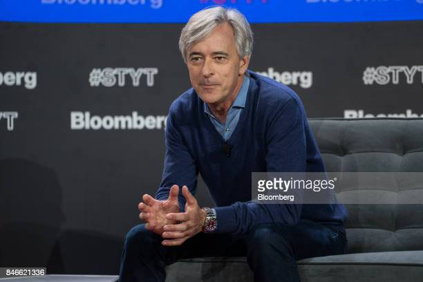 John Krafcik chief executive officer of Waymo gestures during a Bloomberg Technology event in New York US on Wednesday Sept 13 2017 The event titled...