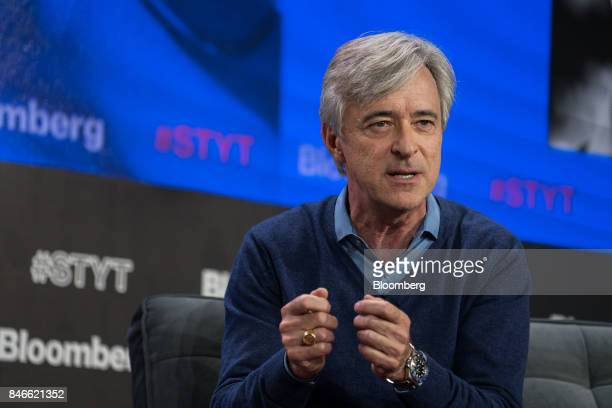 John Krafcik chief executive officer of Waymo speaks during a Bloomberg Technology event in New York US on Wednesday Sept 13 2017 The event titled...