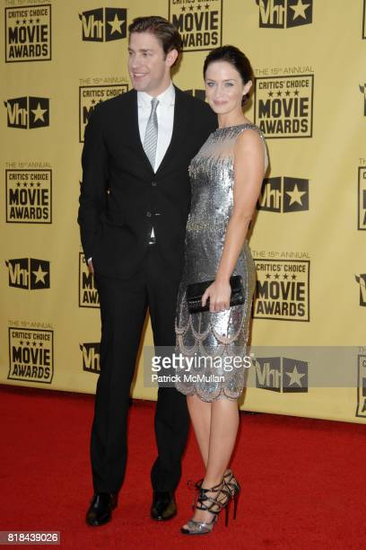 John Krasinski and Emily Blunt attend 2010 Critics Choice Awards at The Palladium on January 15 2010 in Hollywood California