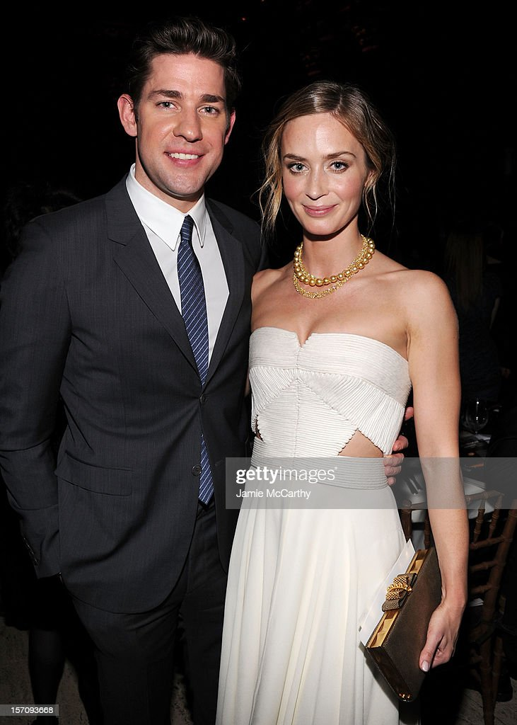 John Krasinski and Emily Blunt attend the 22nd Annual Gotham Independent Film Awards at Cipriani Wall Street on November 26, 2012 in New York City.