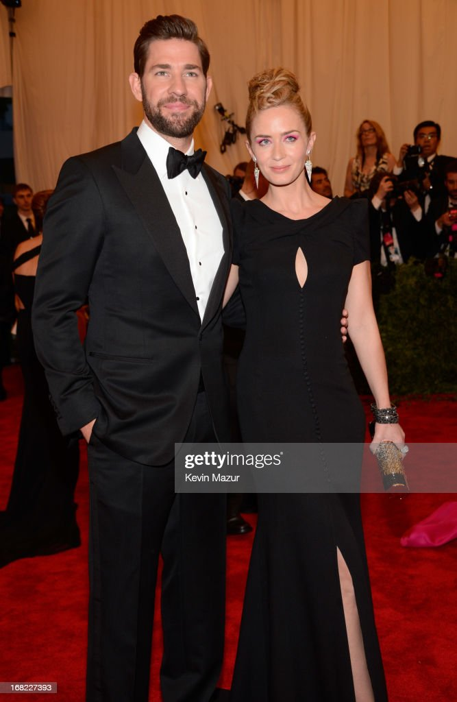 John Krasinski and Emily Blunt attend the Costume Institute Gala for the 'PUNK: Chaos to Couture' exhibition at the Metropolitan Museum of Art on May 6, 2013 in New York City.