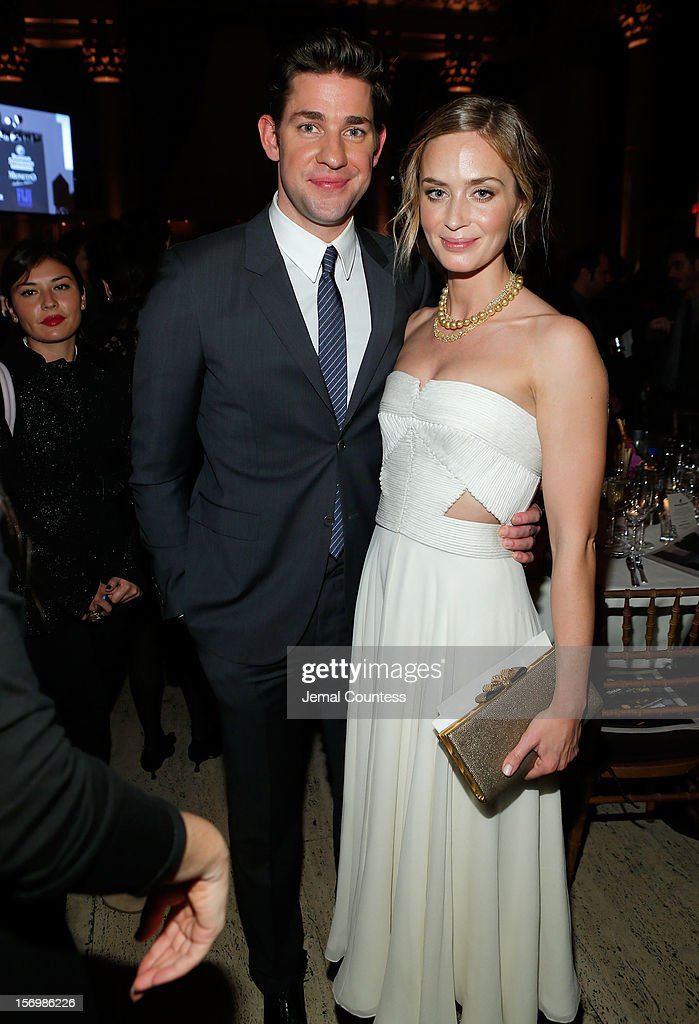 John Krasinski, and Emily Blunt attend the IFP's 22nd Annual Gotham Independent Film Awards at Cipriani Wall Street on November 26, 2012 in New York City.