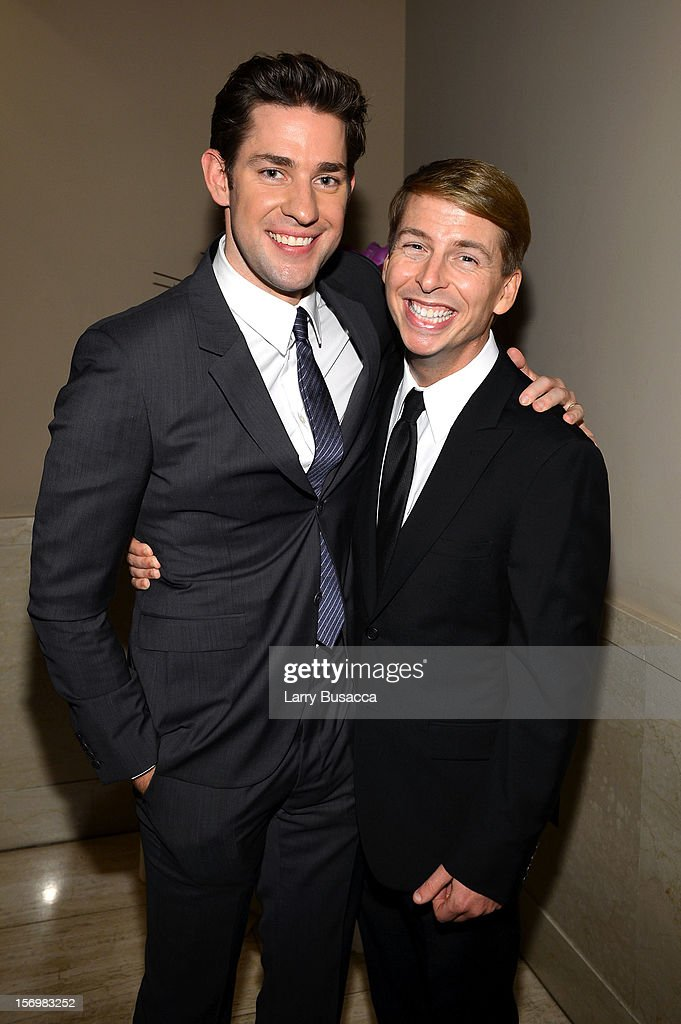 <a gi-track='captionPersonalityLinkClicked' href=/galleries/search?phrase=John+Krasinski&family=editorial&specificpeople=646194 ng-click='$event.stopPropagation()'>John Krasinski</a> and <a gi-track='captionPersonalityLinkClicked' href=/galleries/search?phrase=Jack+McBrayer&family=editorial&specificpeople=4100664 ng-click='$event.stopPropagation()'>Jack McBrayer</a> attend the IFP's 22nd Annual Gotham Independent Film Awards at Cipriani Wall Street on November 26, 2012 in New York City.
