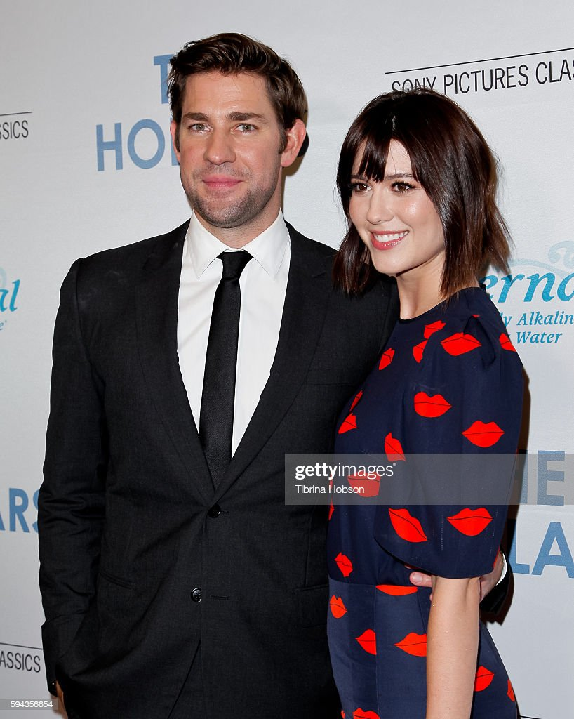 John Krasinski and Mary Elizabeth Winstead attend the premiere of 'The Hollars' at Linwood Dunn Theater on August 22, 2016 in Los Angeles, California.