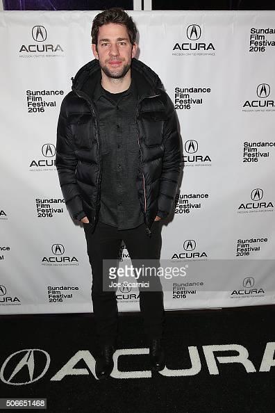 John Krasinski arrives at the 'The Hollars' Premiere Party at The Acura Studio at Sundance Film Festival 2016 on January 24 2016 in Park City Utah
