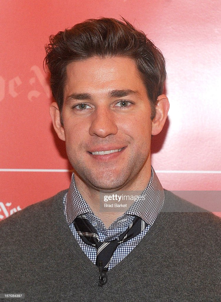 John Krasinski attends TimesTalk Presents An Evening With Marion Cotillard, Matt Damon & Gus Van Sant>> at TheTimesCenter on November 27, 2012 in New York City.