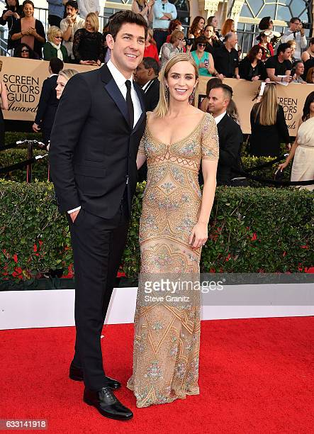 John Krasinski Emily Blunt arrives at the 23rd Annual Screen Actors Guild Awards at The Shrine Expo Hall on January 29 2017 in Los Angeles California