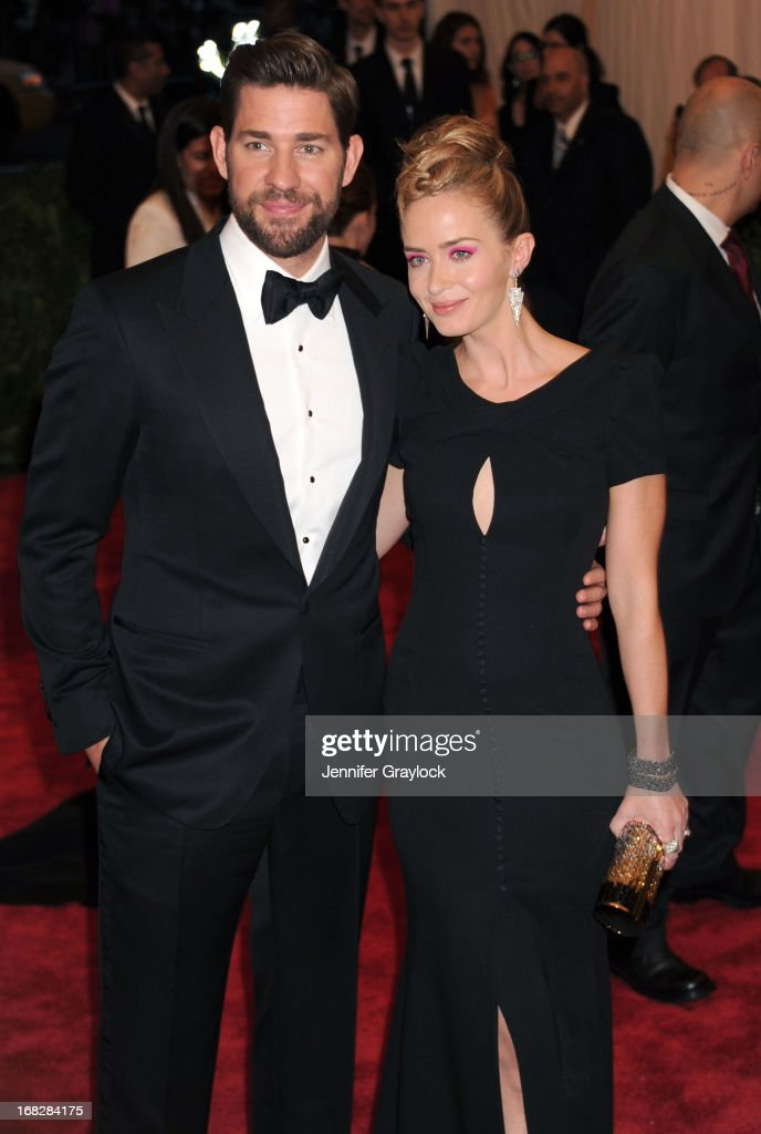 John Krasinski, Emily Blunt attend the Costume Institute Gala for the 'PUNK: Chaos to Couture' exhibition at the Metropolitan Museum of Art on May 6, 2013 in New York City.